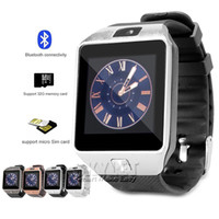 Wholesale Tracker Iphone - DZ09 Smart Watch Dz09 Watches Wristband Android iPhone Watch Smart SIM Intelligent Mobile Phone Sleep State Smart watch Retail Package