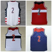 Wholesale Color White Jersey Basketball - Top Quality Retro 2 John Wall Basketball Jerseys Kentucky Wildcats College 11 John Wall Jersey Men Color Red White Stitched with player name