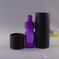 Wholesale 15ml essential oil bottle with black packing box glass dropper bottle with packaging tube