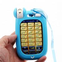 Wholesale Learn Arabic - Mini Cute Arabic 18 chapters Al Quran Islamic Phone Toys Education,18 section Koran Muslim Kids Learning Machine Mobile Light Toy