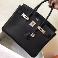 Wholesale H Tote - Fashion women handbags Luxury 25 30 35 40cm Brikin gold   silver buckle bags Leather with the original brand H