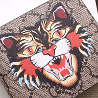 Wholesale Rock Delivery - 2017 new fashion brand classic Angry Cat print men's handbag high quality leather purse luxury bag free delivery