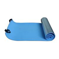 Wholesale Yoga Pad Mattress - Wholesale-High Quality Extra Thick Camping Picnic Pad Yoga Mat Sleeping Outdoor Mattress Fitness Mat Blue Silver