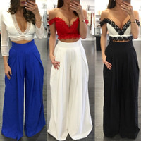 Wholesale Elastic Ankle Length Trousers Legging - Wide Leg Pants Chiffon Pants Ankle Length trousers Women Multi - color fashion Leisure jeans Fold Loose pants Free Shipping