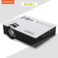 Wholesale 3d theater - Wholesale-UNIC UC40 UC40+ Mini Pico portable 3D Projector HDMI VGA Home Theater beamer multimedia projector Full HD 1080P video Player
