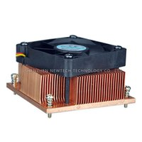 Wholesale Fan Suppliers - Retail high quality PM988 989 Socket G PGA988 30mm 1U copper skived fin computer CPU server IPC chipset heat sink supplier