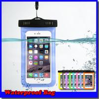 bolsa de teléfono celular a prueba de agua al por mayor-Bolsa a prueba de agua Bolsa a prueba de agua bolsa de brazalete Cubierta de la caja Para cajas a prueba de agua universales todos los teléfonos celulares Envío gratis