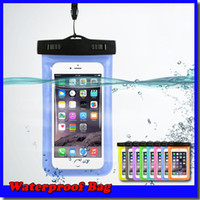 Wholesale Transparent Pouch Cell - Waterproof Bag Water Proof Bag armband pouch Case Cover For Universal water proof cases all Cell Phone Free shipping