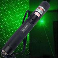 Wholesale Caps For Red Laser - Green Red Light Laser Pen Burning laser 303 2in1 Star Cap Pattern Laser Pointer Flashlight Burn Match Power for teaching meeting