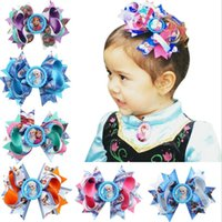 Wholesale China Children Caps - Free shipping New snow and ice odd bow bow cap hairpin creative DIY children hair ornaments hot FJ099 mix order 60 pieces a lot