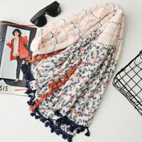 ingrosso nappa originale-2017 nuova sciarpa di alta qualità originale in nappa singola di cotone, scialle da viaggio giapponese, sciarpe da spiaggia decorative