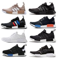 Wholesale Plastic Salmon - Hot Sale NMD Runner R1 Salmon Talc Cream Olive Triple Black Men Women Running Shoes Sneakers NMD Runner Primeknit Shoes size 36-44