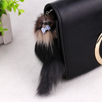 Lovely 3D Mouse Squirrel Charm Pom Pom Car Keychain 7,87