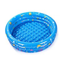 Wholesale inflatable paddling pools - Wholesale- Inflatable Swimming Pool Trinuclear Piscina Paddling pool Portable Outdoor Basin Bathtub Water Swimming Pools for Water Sports