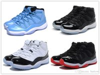 Wholesale Womens Rhinestone Shoes - 2017 Air Retro 11 Pantone Basketball Shoes Space Jam Black White Gym Red Bred Black Red Mens Womens Sports Shoes Sneakers Free Shipping