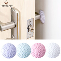Wholesale Protection Stick - LESUPERAY Wall Thickening Mute Door Fenders Golf Modelling Rubber Fender Handle Door Lock Protective Pad Protection wall stick