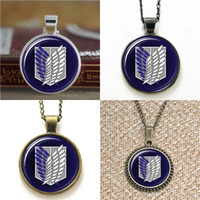 10pcs Attack on Titan Shingeki no Kyojin Scouting Legion Pendant Necklace chaveiro bookmark bracelete de brinco de cufflink