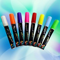 8 colores Liquid Chalk marcador bolígrafos múltiples colores coloridos highlighters para LED escritura Junta Glass Window Art