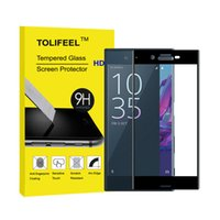 Wholesale Xperia Protective Cover - 3D Curved Edge Full Cover Tempered Glass for Sony Xperia XA XZ XZs Premium Screen Toughened Glass Protective Film