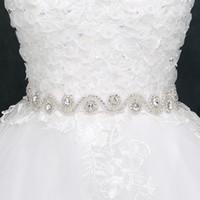 Wholesale Sparkle Belt Wedding Dress - 2017 Sparkling Bridal Sashes Top Quality Bling Bling Wedding Dress Belt New Arrival Sparkling Rhinestone Wedding Accessories