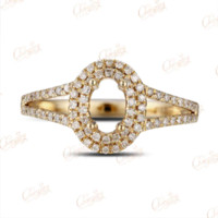 Wholesale Diamond Semi Mount Oval - 4x6mm Oval 14k Gold Pave .43ct Diamond Semi Mount Ring Free Shipping wholesale rings free shipping