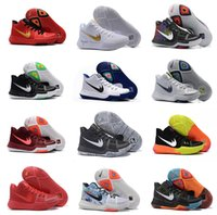 Wholesale Sky Team White - New arrival Kyrie Irving 3 Hot Punch Team Red Christmas Mens Basketball Shoes Top quality Kyrie 3 Air Cushion Sport Sneakers 40-46