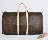Wholesale Duffle Bag Man Leather - 55cm fashion men women travel bag duffle bag, brand designer luggage handbags large capacity sport bag