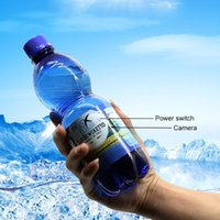 Wholesale motion activated spy cams - Portable Motion Activated Cristal Clear Nanny Cam HD 1080P Plastic Drinking Hidden Water Bottle Spy Camera