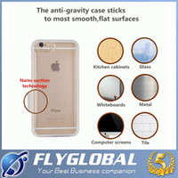 Wholesale Clear Iphone Battery Case - Clear Anti Antigravity Back Gravity Soft Case For Iphone 7 6 6S plus Galaxy S8 S8+ S7 S6 Edge Nano Suction Cover Magic Adsorption Shockproof