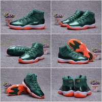 Wholesale Numbered Cushions - 2017 Retro 11 XI 11s 72-10 Green Orange For Men Basketball Shoes With Number 23 Air Sports Sneakers Size 40-47