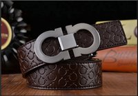 Wholesale H Genuine Leather - 2017 New Fashion Mens Business G Belts Luxury Ceinture Automatic h Buckle Genuine Leather Belts For Men Waist Belt Free Shipping