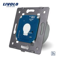 Wholesale Livolo Black Remote Control - LS- Manufacturer, Livolo EU Standard Remote Switch Without Glass Panel, 110~250V Wall Light Remote&Touch Switch,VL-C701R