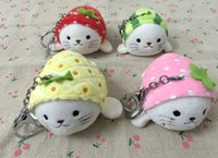 Wholesale Games Choice - 4Colors For Choice - 10*6CM Approx. Fruits Seal Plush Stuffed Toy , Quality Key Chain doll , Children's party Plush Toys