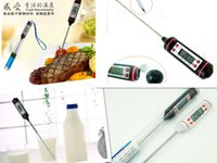 Wholesale thermometer temperature gauge resale online - DHL Degree LCD Professinal Mini Kitchen oil temperature gauge Digital Cooking Food Probe Meat BBQ Steak cake Liquid temperature pen