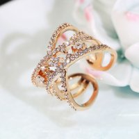 Wholesale Cheap Rhodium Plated Rings - Fashion Party Jewelry For Girls Female Ring Multicolor Women Stars Ring Adjusted Jewelry Buy Cheap Free shipping