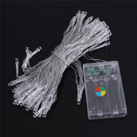Wholesale Rgb Led Flasher - LED Battery Operated LED String Lights 2M 3M 4M 5M 10M for Xmas Garland Party Wedding Decoration Christmas Flasher Fairy Lights