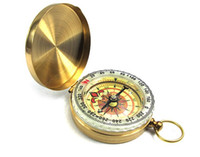 Wholesale Low Priced Pocket Watches - Lowest Price 200pcs Delicate Brass Pocket Watch Style Outdoor Camping Compass wholesale Golden Classic Antique LLFA