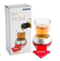 Unisex sport shooting supplies - Spin the shot drink turntable toy bar drinking entertainment supplies drinking addict toys