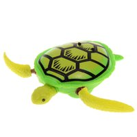 Wholesale Turtle Pool Baby - Wholesale- Bathing Turtle Toy Cute Baby Bath Time Fun Swimming Animal Pool Toy Turtle Baby Kids Gift Classic Toys for Cold Water