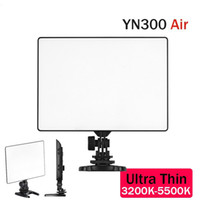 Wholesale Dslr Video Lighting - Wholesale-YONGNUO YN300 Air 3200-5500K Ultra Thin On Camera Led Video Light Pad Panel for DSLR & Camcorder