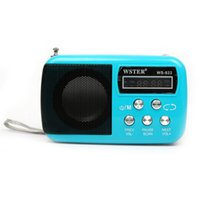 Wholesale Age Building - Wholesale-2016 New Fashion Portable Mini FM Radio Speaker The Aged Best Mini Digital FM Radio MP3 With USB SD Card Built-in Speaker WS-822