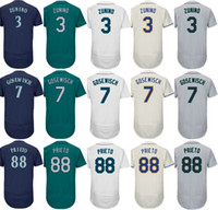 2017 Mens Mujeres Niños Seattle 3 Mike Zunino 7 Tuffy Gosewisch 88 Chris Prieto Home Away Alterno Barato Al Por Mayor de Béisbol Jerseys
