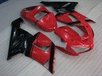 carenado para kawasaki ninja rojo zx6r al por mayor-Carenado de ABS para Kawasaki ZX6r 05 Kits de carrocería ZX6r 636 2005 Rojo Kits de carenado negro Ninja ZX-6r 06 2005 - 2006