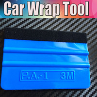 Wholesale Carbon Fiber Film Scraper - 100Pcs   Lot 3m Pro Felt Edge Squeegee Vinyl Car Van Bike Wrap Wrapping Squeegee Tool Scraper Car Wrap Applicator Tool