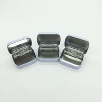 Wholesale Metal Tin Box Plain - 58x45x15mm mini tin box gift box mint metal box white rectangle plain metal tin box wa4079