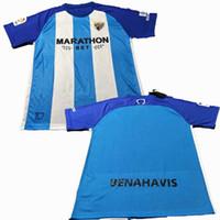 Wholesale Cf Shirt - 2017 2018 Malaga CF Jersey 17 18 home La Liga best quality Sports shirts
