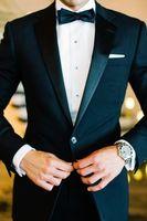 Wholesale Tuxedo Plaid Bow Tie - 2017 One Button Side Slit Classic Fit Notch Lapel Groom Tuxedos Groomsman Suit Wedding Party Suit (Jacket+Pants+Bow Tie+Girdle)