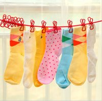 Wholesale Clothesline Outdoor Travel Portable Stretch Windproof Rope with Clips Colors Hangers
