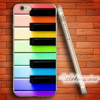 Wholesale Piano Silicone Case - Fundas Colorful Piano Key Soft Clear TPU Case for iPhone 7 6 6S Plus 5S SE 5 5C 4S 4 Case Silicone Cover.