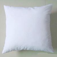 lits de chat modernes achat en gros de-(50pcs / lot) plaine blanche DIY Blank Sublimation taie d'oreiller poly taie d'oreiller 150gsm tissu 40cm carré taie d'oreiller blanc pour DIY imprimer / peindre